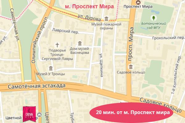 эротический массаж у метро Проспект Мира